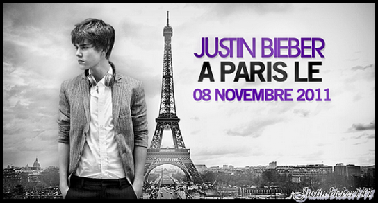 "Justin Bieber à Paris le 8 novembre 2011 +""santa claus is coming to town """