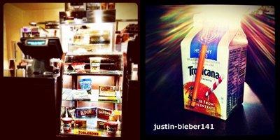 Justin dans un retaurant à Los Angeles
