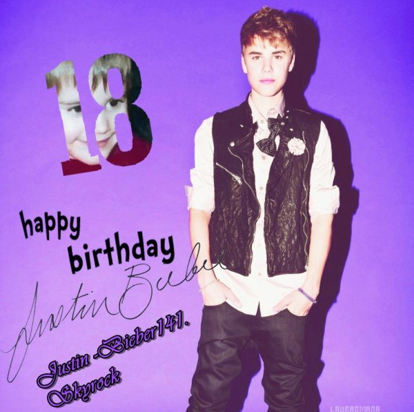 Happy 18th Birthday Justin Bieber !!