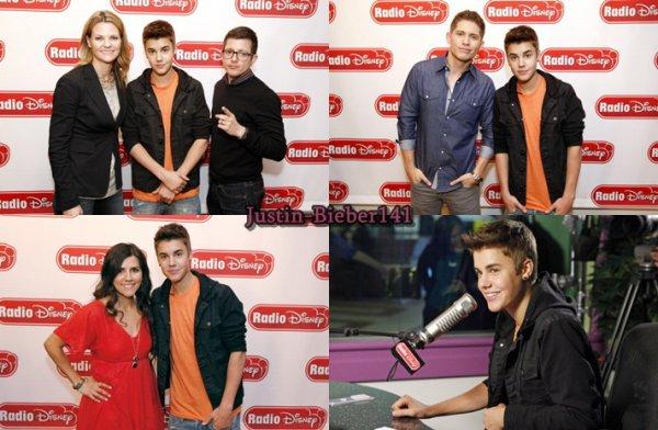 Justin fait un petit tour en radio  + Boyfriend