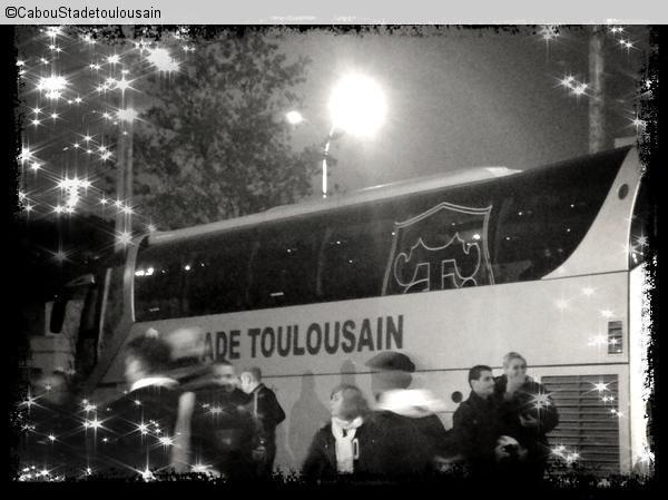 Photo des joueurs du Stade Toulousain lors du match contre Brive le 26 novembre 2011