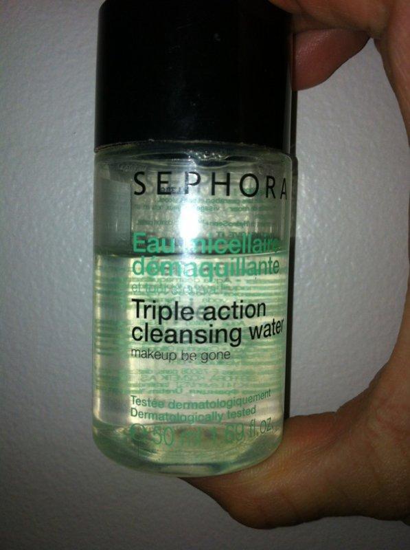 L'eau démaquillante de chez sephora