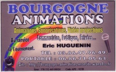Bourgogne Animation avec Éric Huguenin Animateur & Deejay .