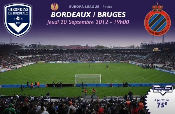 BORDEAUX -  CLUB DE BRUGES EN EUROPA LEAGUE