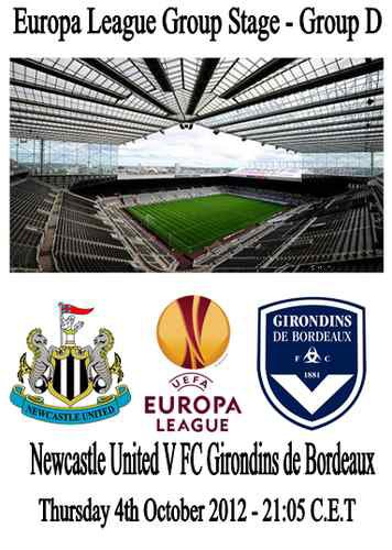 NEWCASTLE - BORDEAUX ( EUROPA LEAGUE )