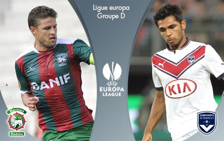MARITIMO FUNCHAL VS BORDEAUX EN EUROPA LEAGUE