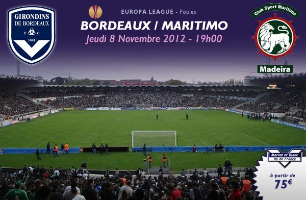 MATCH RETOUR BORDEAUX VS MARITIMO FUNCHAL