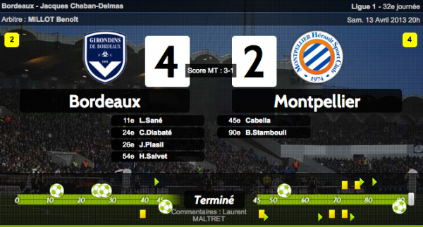 BORDEAUX VS MONTPELLIER