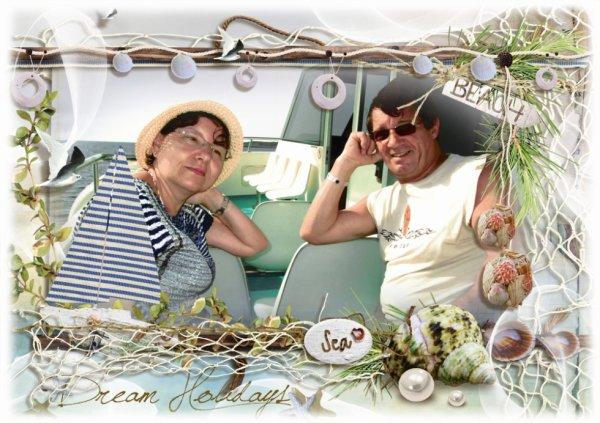 Moi et mon mari sur le bateau