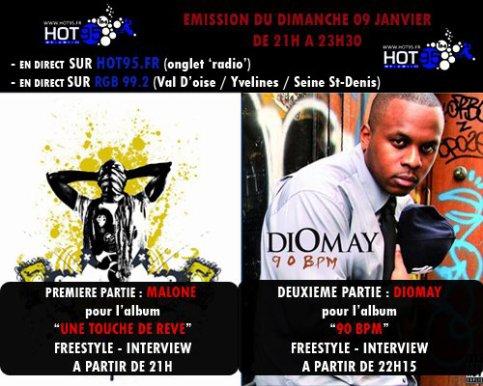 Emission ce soir avec Malone & Diomay sur hot 95!