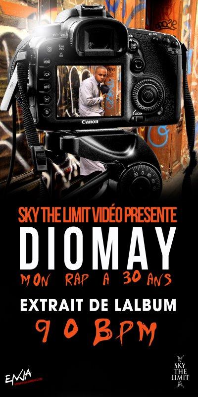 Sans qu'on s'y attende vraiment, Diomay balance le clip de son titre « Mon Rap A 30 Ans » extrait de son dernier album « 90 BPM »