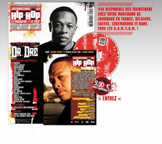 Ce mois ci le clip mon rap a 30 ans réalisé par sky the limit vidéo  extrait de l'album 90 bpm est a l'honneur dans le dvd du magazine international hip hop le 14e du nom !