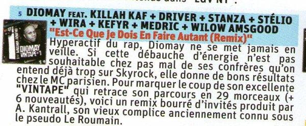 Le numéro 20 International Hip-Hop qui sort ce jour chez les marchands de journaux et chez les Relay (gares, aéroports, etc)