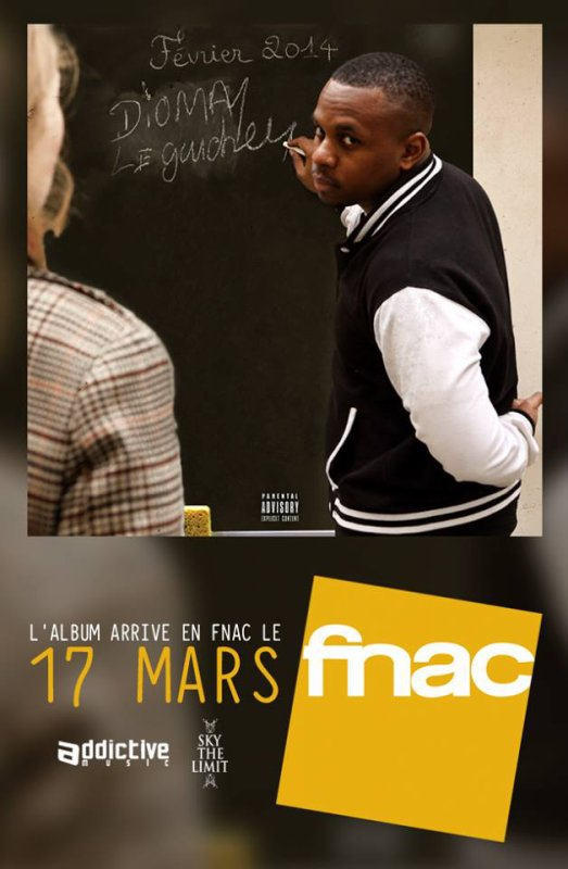 "L'album ""Le Gaucher"" arrive bientôt en Fnac le 17 MARS Addictive Music Distribution"