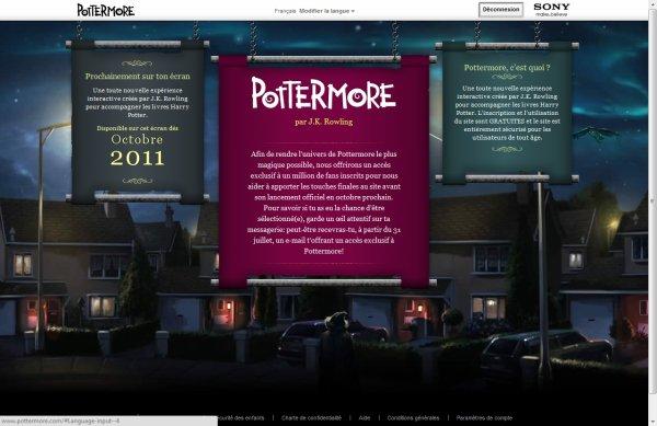 Pottermore est ouvert et je suis inscrit!
