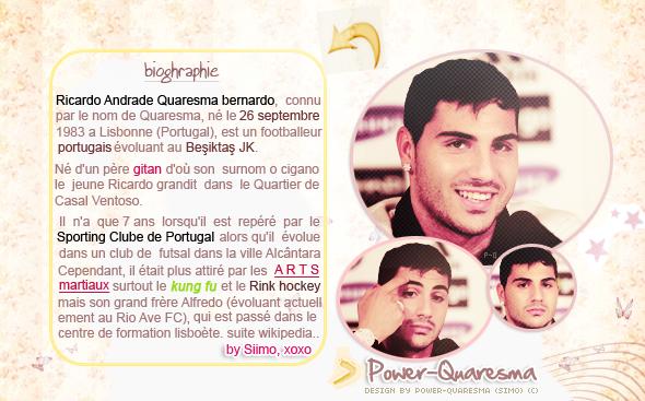 Power-Quaresma ta source sur le joueur Portugais Ricardo Quaresma Numéro 7