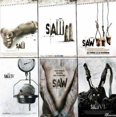 Saw 1, 2, 3, 4, 5, 6