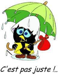 C est mercredi et c est jour de pluie. Normal je suis de repos