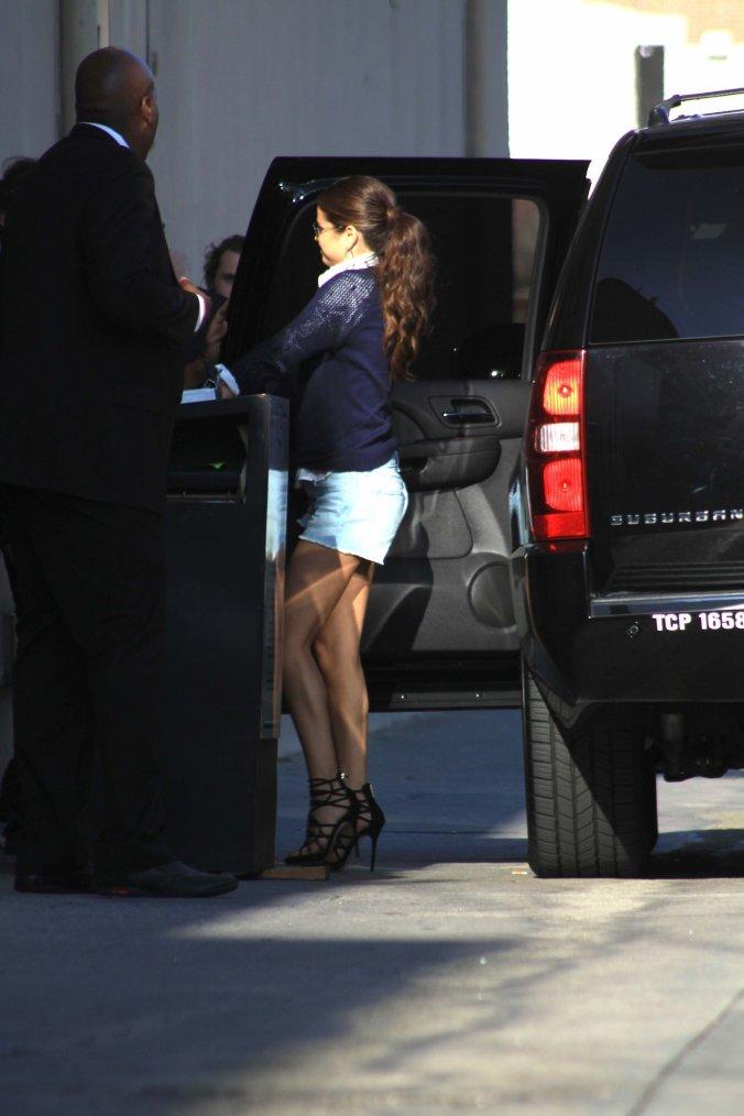 Selena Gomez  a Jimmy Kimmel a Los Angeles.  (1 Août)