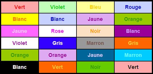 Jeu des couleurs