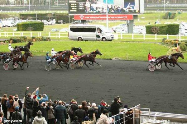 dimanche 17 janvier 2016 le prix de belgique à vincennes trot attelé 16 chevaux arrivée 12 14 11 13 7