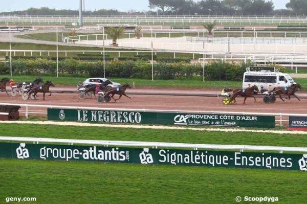 mardi 9 février 2016 -cagnes-sur-mer prix ducal trot attelé 15 chevaux départ à 13h50  arrivée 1 7 9 13 4