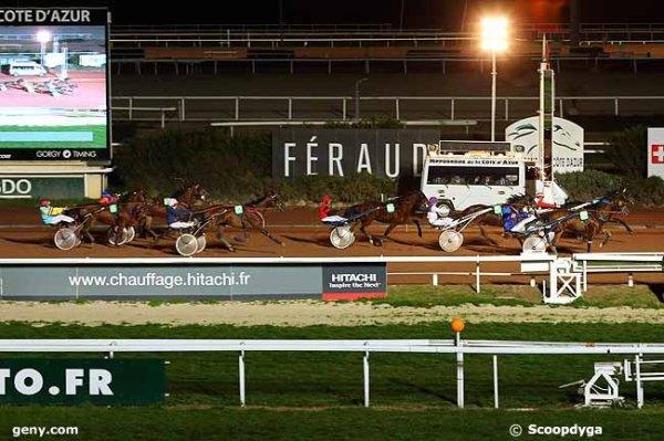 vendredi 19 février 2016 quinté nocturne a cagnes-sur-mer avec 16 chevaux 2925 mètres trot attelé