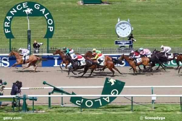 jeudi 28 avril 2016 - quinté de plat à chantilly 1800 mètres avec 15 chevaux  arrivée exacte 3 7 14 6 1