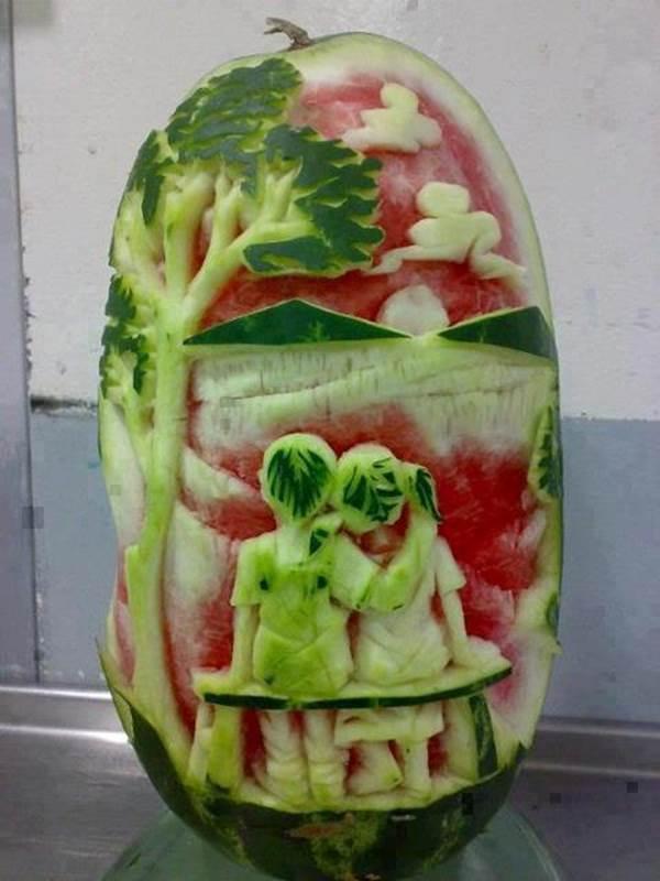 De belles décorations avec des fruits et légumes (l ... - photo#48