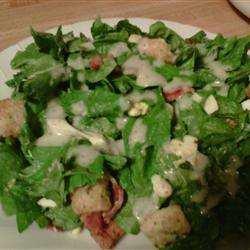 J'ai reçu des épinards pour en faire plusieurs belles petites salades... Ce midi: Salade d'épinards  des Bermudes (l) (l) (l)