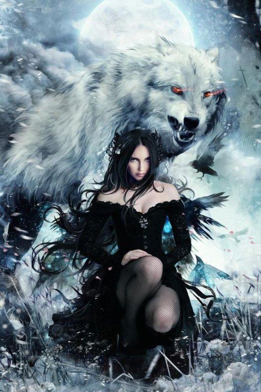 La femme et le loup-  Images