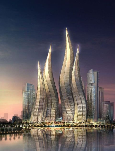 Dubai Towers..out of a fairy tale...or a futuristic comic