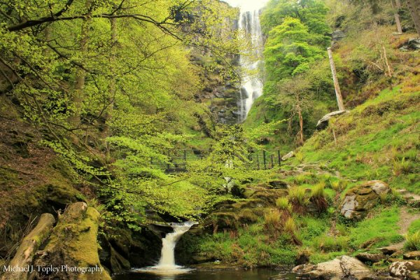 Pistyll Rhaeadr Waterfall, Wales, UK.