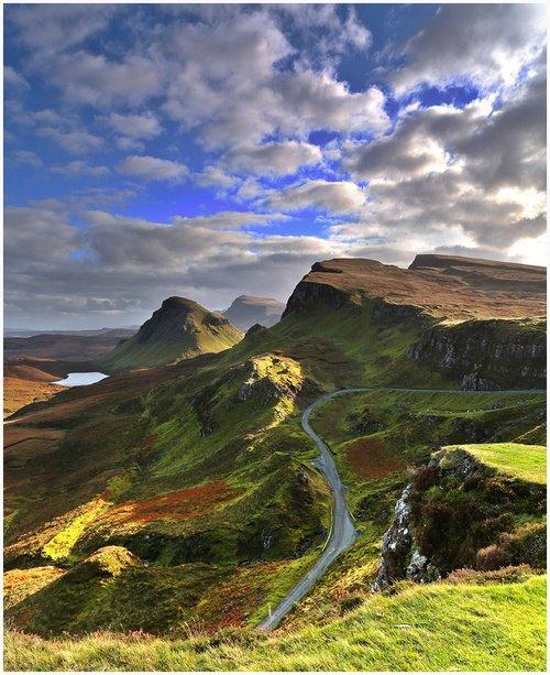 O Quiraing, ilha de Skye, na Escócia