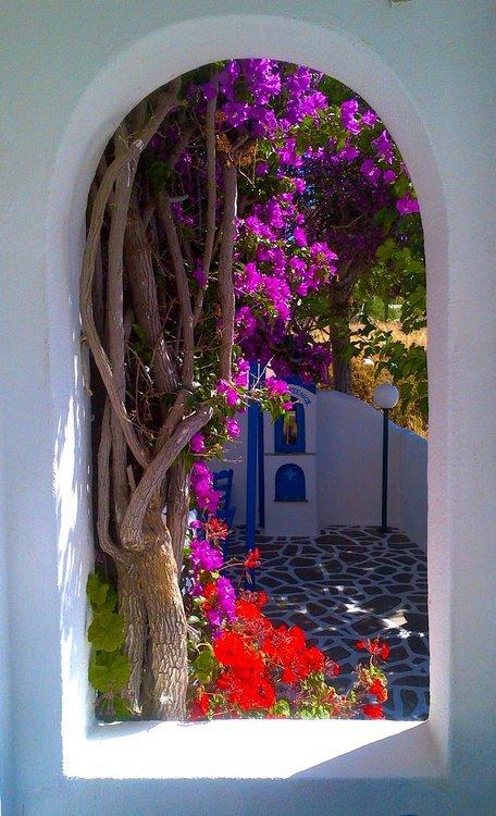 Portal, Santorini, Grécia
