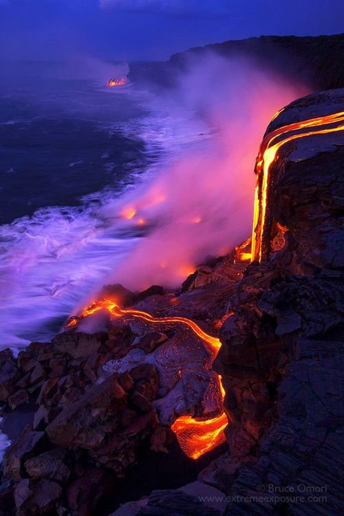Fluxo de lava, Hawaii