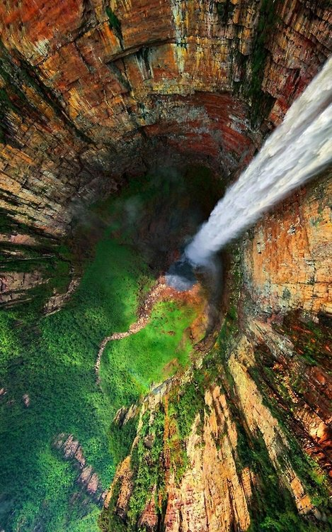 PAISAGEM,Angel Falls from Top, Venezuela