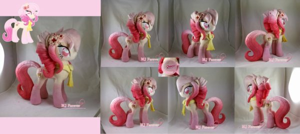 Autumn Orchid plushie! (my OC) by moggymawee