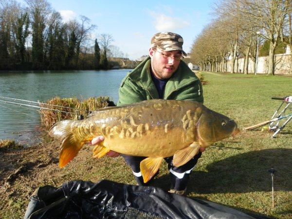 premiere peche en 2012 et ces température douce pour quelque fish en canal