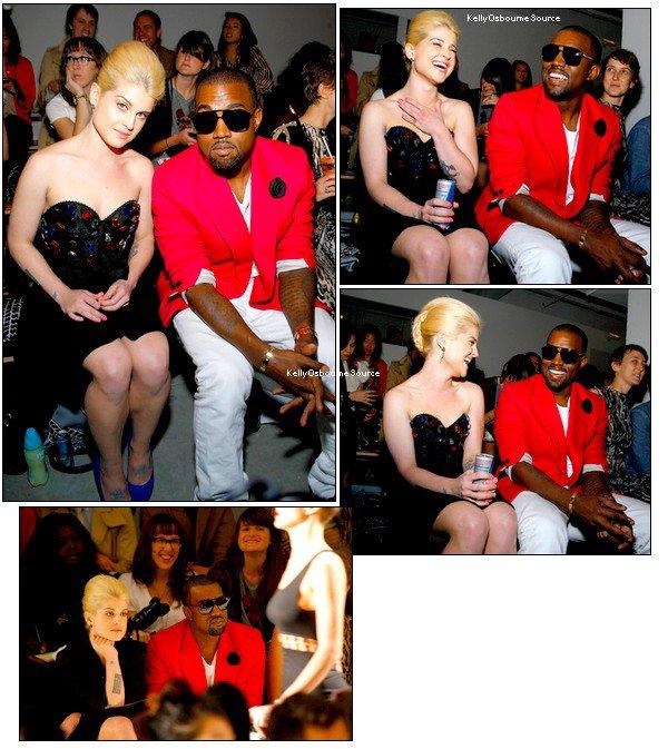 ____    Au Jeremy Scott Front Row & Backstage avec Kanye West.   ILS ONT L'AIR DE BIEN SE MARRER... haha (mercredi) [ 20 chiffres = 20 chiffres ] ____