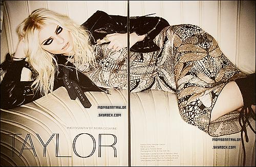 23/04/2013 : Scans de Taylor Momsenapparaissant dans Untitled Magazine
