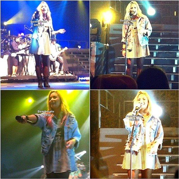 17.07.2012 - Demi a fait un soundcheck à San Jose en Californie.