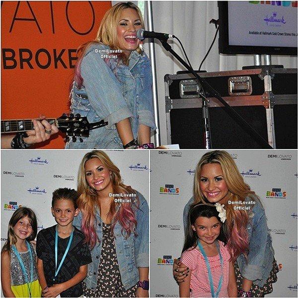 18.07.2012 - Demi a fait un soundcheck à Los Angeles en Californie.