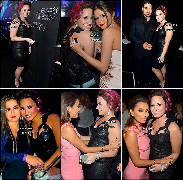 27.02.2014 - Demi a assisté gala de charité Unite4:Humanity à Los Angeles. Elle y a chanté Skyscraper et Warrior. Puis, elle a reçu le Young Luminary Award. (Discours)