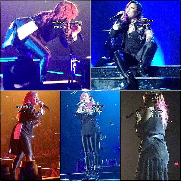 02.03.2014 - Demi a été vue arrivant à la salle de concert à Fairfax en Virginie.