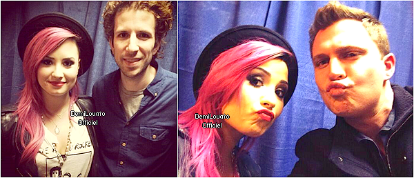 05.03.2014 - Demi a fait un soundcheck à Worcester.
