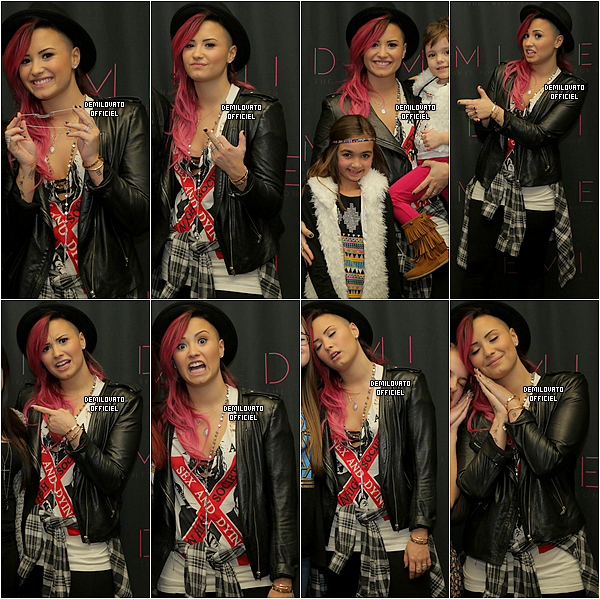 08.03.2014 - Demi a fait un soundcheck à Wallingford.
