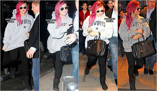 10.03.2014 - Demi a été vue quittant son hôtel à New York City.