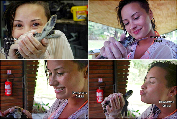 Juillet 2014 - Demi a passé quelques jours avec Wilmer Valderrama à Bora Bora.