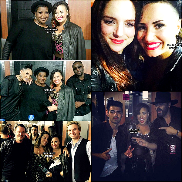 25.09.2014 - Demi a fait un meet and greet à Denver.